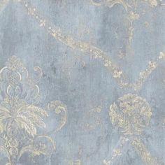 Antique Victorian Damask Wallpaper Regal Vintage Floral   Etsy