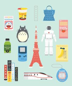 A series of iconic illustration about Japanese Culture.