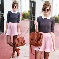 Stay vintage. (by Steffy Kuncman) http://lookbook.nu/look/4247437-Tea-And-Tulips-Vintage-Skirt-Gap-Soft-Pj-Set