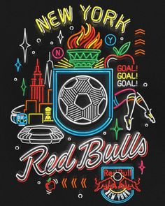 I had a blast doing this poster with @dandcnewyork for @newyorkredbulls 2015 Match Poster Series! Repost from @dandcnewyork #tbt #RBNY #runwithus #matchposter #savemesome