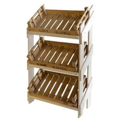 Wooden Display Stand & 3 Reclaimed Chitting Trays | Retail Display | WBC