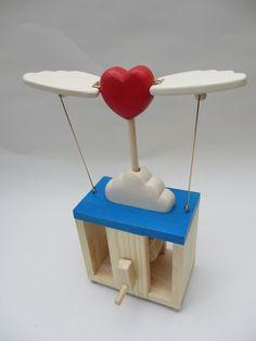 Flying Heart Automaton by TimDonaldAutomata on Etsy, £45.00