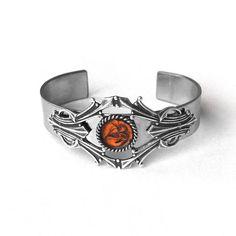 Medieval Stainless Steel Cuff Bracelet