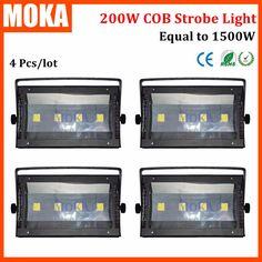DMX 200W Strobe Light LED Stage Strobe Flash Lighting Effect Disco Light DJ 360 Heads strobe scope  4PCS/lot #Affiliate
