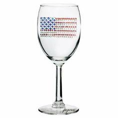 American Flag Wine Glass in Rhinestones . $21.95. The American Flag Wine Glass…