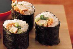 Toevoegen aan mijn receptenMaak deze sushi met gerookte kip nu heel eenvoudig zelf klaar. Heerlijk om te dippen in sojasaus.
