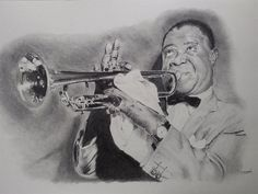 Louis Armstrong. Sketch by David Horton