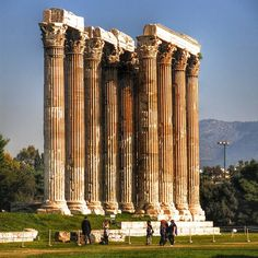 Columns from the temple of the Olympic Zeus in Athens, Greece