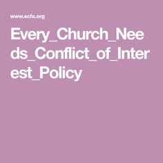 Every_Church_Needs_Conflict_of_Interest_Policy Board, Planks