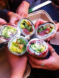 The infamous Sushirito. Check out where to find the best burritos in San Francisco at TheCultureTrip.com. Click on the image to see them.
