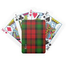 clan tartan playing cards - ZAZZLE