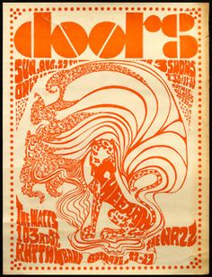 theswingingsixties:    The Doors concert poster.