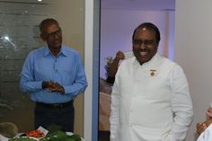 Dr G.B.K Rao sharing a light moment during the Meetup
