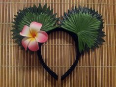 Hawaiian Flower in Ear Minnie Mouse Ears