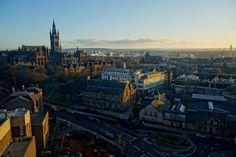 Glasgow University skyline