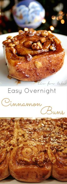 Foolproof cinnamon rolls you can make the day before and let rise in your fridge overnight. | livforcake.com Overnight Cinnamon Rolls, Easy Cinnamon Rolls, Cinammon Rolls, Manger Healthy, Cinnamon Bun Recipe, Cinnamon Cake, Baking Recipes, Bread Recipes, Cake Recipes