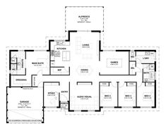 Aveling Homes is an award winning home builder in Perth dedicated to providing customers with quality homes and the highest levels of customer service. Luxury House Plans, Best House Plans, Dream House Plans, House Floor Plans, One Storey House, Narrow House Plans, 4 Bedroom House Plans, Home Design Floor Plans, House Yard