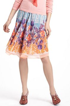 Stained Glass Garden Circle Skirt #anthropologie