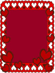 Border Valentines Day Pinterest