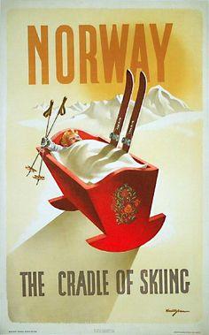 Norway - the cradle of skiing. #ski #retro #vintage