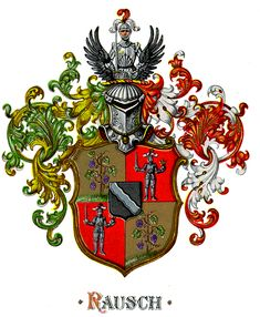 coat of arms family crest rausch design standard herald heraldry