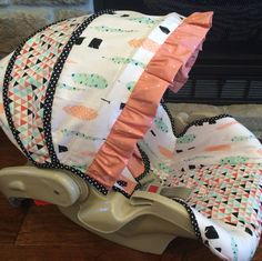 Aztec boutique infant car seat cover