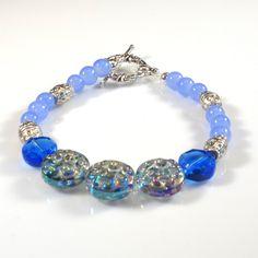Turquoise Filigree Beaded Bracelet by DungleBees on Etsy