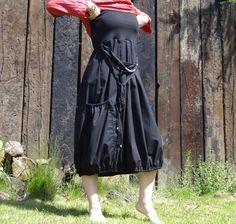 Boho sukně (šaty)- v černé
