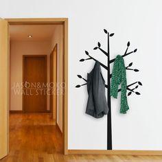 Albero cappotto appendiabiti decalcomania della parete decorazioni per la casa- vinile autoadesivo della parete carta da parati decorazione casa 90cmx170cm spedizione gratuita