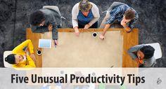 Five Unusual Productivity Tipsbehancebloglovindribbbleemailfacebookflickrgithubgplusinstagramlinkedinmediumperiscopephonepinterestrsssnapchatstumbleupontumblrtwittervimeoxingyoutube