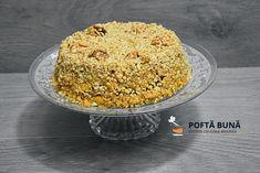 Tort de post, cu blat de negresa si nuca Krispie Treats, Rice Krispies, Sweets Recipes, Desserts, Macaroni And Cheese, Vegetarian, Cookies, Ethnic Recipes, Food