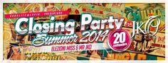 CLOSING PARTY – JKO BEACH – CAGLIARI – SABATO 20 SETTEMBRE 2014