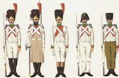Granatieri e volteggiatori della fanteria di linea del rgno d'Italia