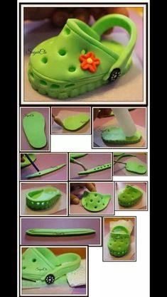 Crock Fondant Baby, Crocs Shoes