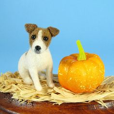Felted Jack Russell. Too cute and unfortunately too pricey! Etsy.