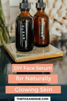I've been teasing to my homemade face serums for a while now and finally, I'm sharing a few DIY face serum. Face Serum Diy, Essential Oils For Face, Glowy Skin, Skin Food, Living At Home, Diy Skin Care, Natural Cosmetics, Young Living Face Serum, Money
