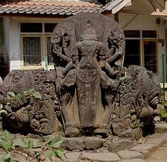 ken dedes statue in the temple champion East Java