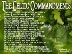 The Celtic Commandments