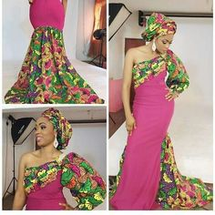 These fashionistas are slaying continuously in their trendy and uber fabulous Ankara styles! TThey never let us down when it comes to a week's worth of slayage, they always deliver… African Formal Dress, African Maxi Dresses, African Wedding Dress, Ankara Gowns, Ankara Dress, Ankara Styles For Women, African Blouses, Africa Dress, Types Of Dresses