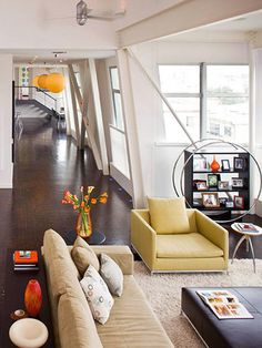 Contemporary Living Rooms in  from HGTV