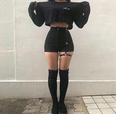 45 Best Summer Outfit Ideas That Are Big on Style, Low on Effort – Mode – Grunge Egirl Fashion, Teen Fashion Outfits, Retro Outfits, Grunge Outfits, Cute Casual Outfits, Stylish Outfits, Korean Fashion, Cute Goth Outfits, Fashion Forms