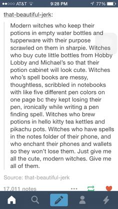 modern witch These are cute ideas, but I also would like modern witches that don't have it all figured out and when they accidentally summon a demon in the middle of the city PEOPLE ACTUA Writing Advice, Writing Help, Writing A Book, Writing Ideas, Writing Fantasy, Story Inspiration, Writing Inspiration, Story Ideas, The Words