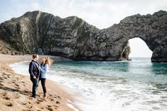 Durdle Door Dorset Engagement shoot by Lydia Stamps Photography