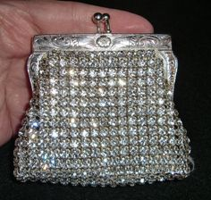 Vintage Rhinestone Change Purse Coin Clutch by MartiniMermaid ON ETSY.