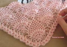 Dress for doll 13 inch Paola Reina - Maria Tunisian Crochet, Crochet Poncho, Baby Blanket Crochet, Diy Crochet, Crochet Top, Lace Patterns, Heart Patterns, Knitting Patterns, Crochet Patterns