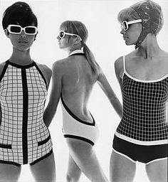 Swimwear & Beachwear for Women : bathing suits Moda Retro, Moda Vintage, Vintage Mode, Retro Vintage, Foto Fashion, 1960s Fashion, Fashion History, Vintage Fashion, Style Fashion