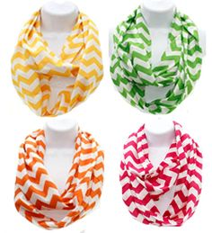 Dancing Needles We are loving these new bright chevron infinity scarves for Spring! Light, colorful and the perfect way to transform your outfit. Add a monogram for extra cuteness! Available in a variety of colors. Stop by today and place your order!