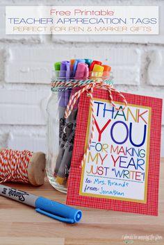 Free Printable Teacher Appreciation Tags