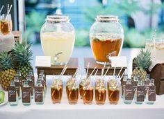 Decoración de la barra de bebidas: La barra deberá estar siempre a la vista de los invitados