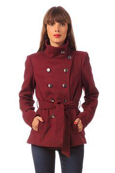 Manteau Kindra Rouge - Noir - Marine VILA sur MonShowroom.com 59€